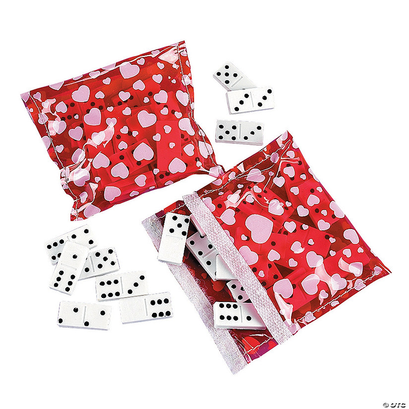 Valentine Dominoes with Case
