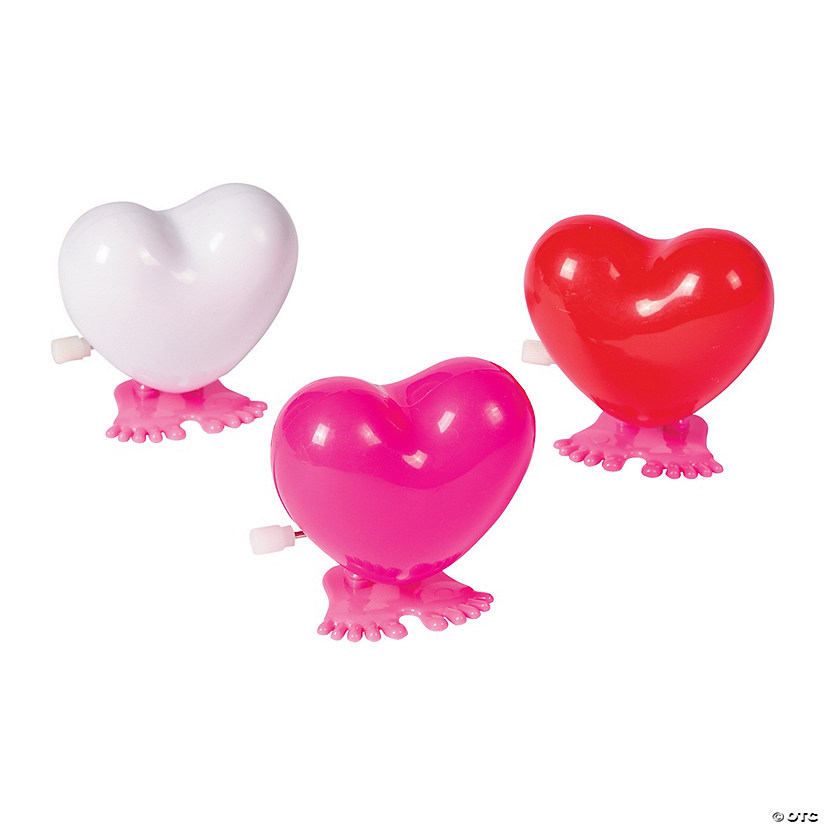 Valentine Hopping Hearts Wind-Up Toys