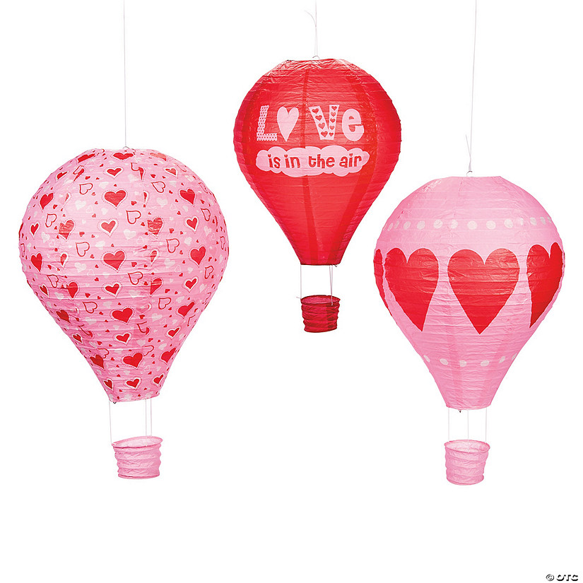 Valentine Hot Air Balloon Hanging Paper Lanterns