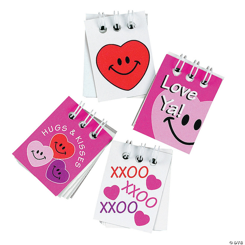Valentine Mini Spiral Notepads
