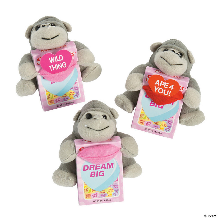 Valentine's Day Stuffed Gorillas with Sweethearts<sup>®</sup>