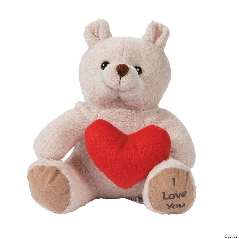 Valentine Stuffed Bears With Hearts