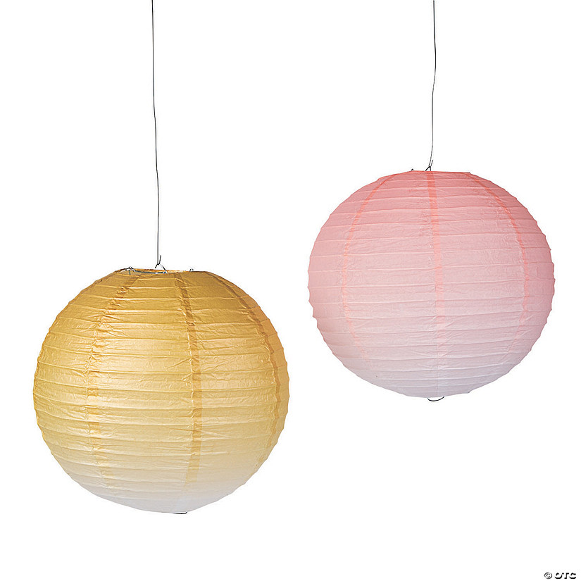 Valentine's Day Ombre Hanging Paper Lanterns