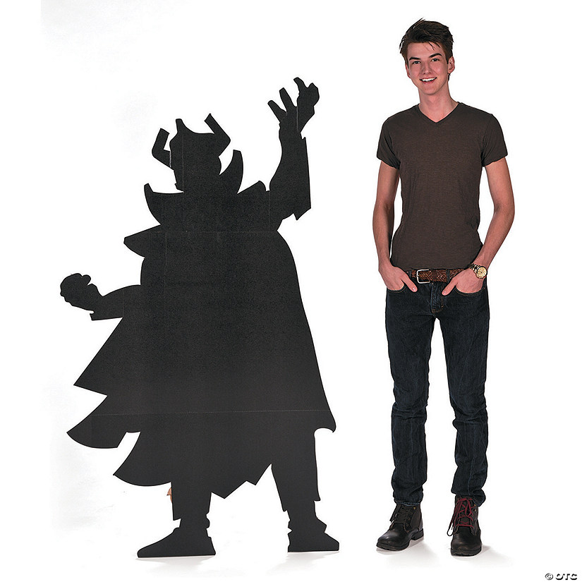 Villain Silhouette Cardboard Stand-Up