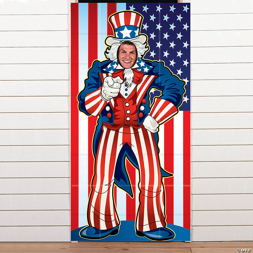 Vinyl Uncle Sam Photo Door Banner