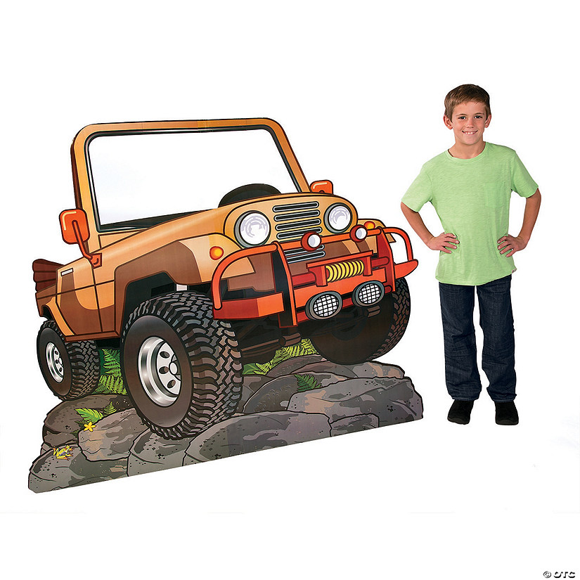 Walk His Way Jeep Cardboard Stand-Up