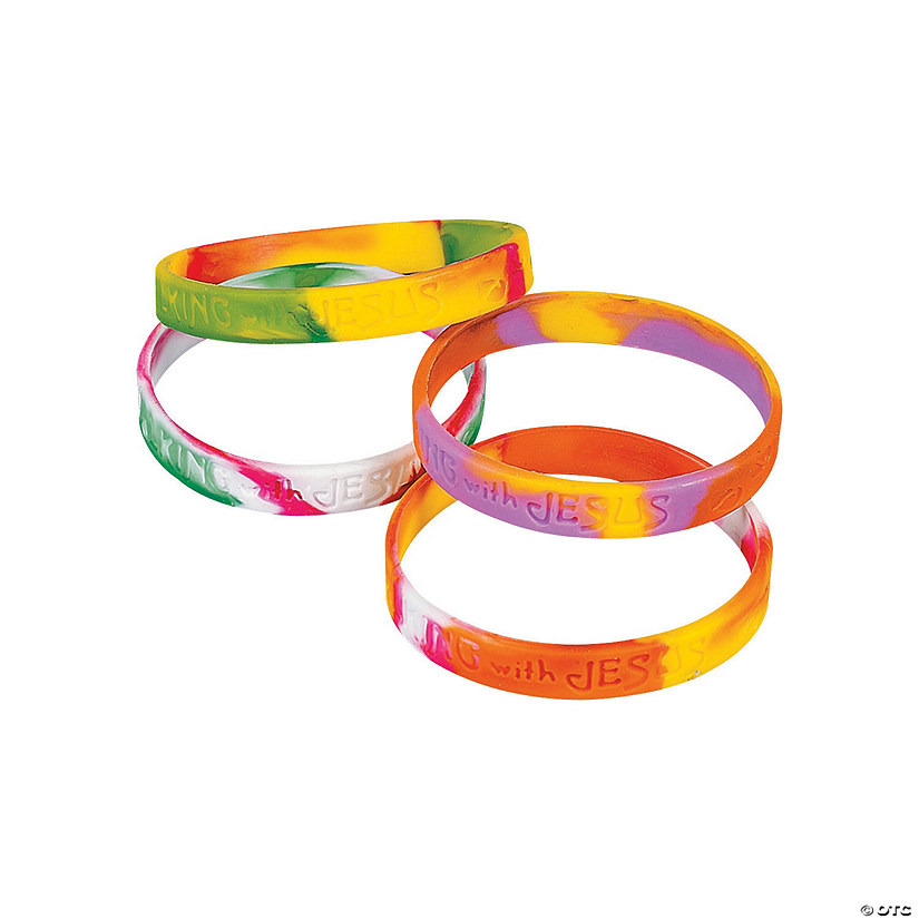 Walking with Jesus Silicone Bracelets