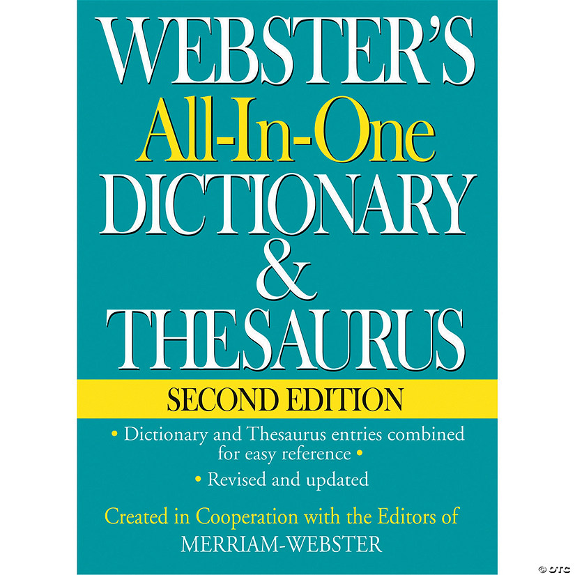 Webster's All-in-One Dictionary & Thesaurus, Set of 2 books
