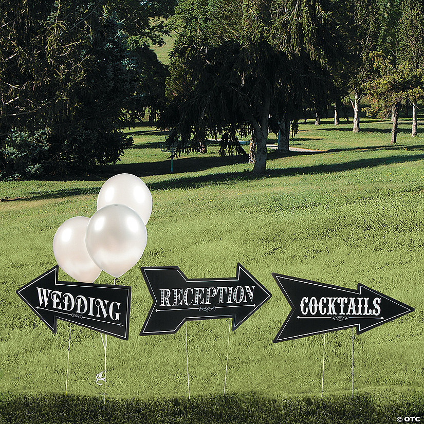 Wedding & Reception Yard Signs