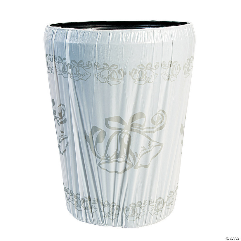 Wedding Bell Plastic Trash Can Cover
