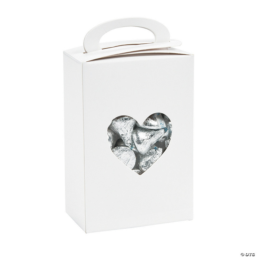 Wedding Boxes with Heart Cutout
