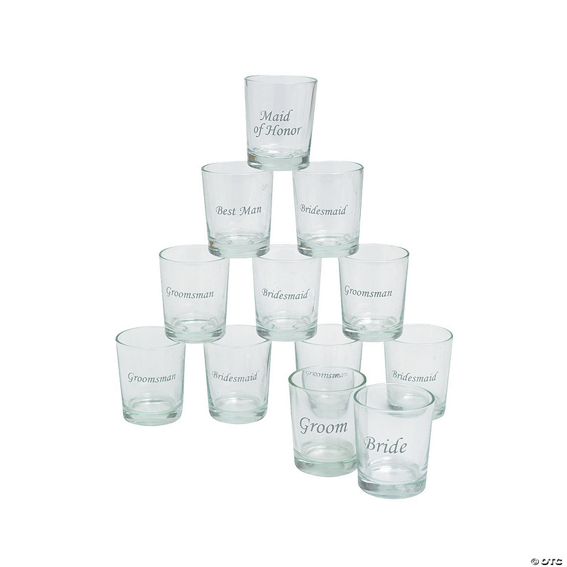 Wedding Party Shot Glasses