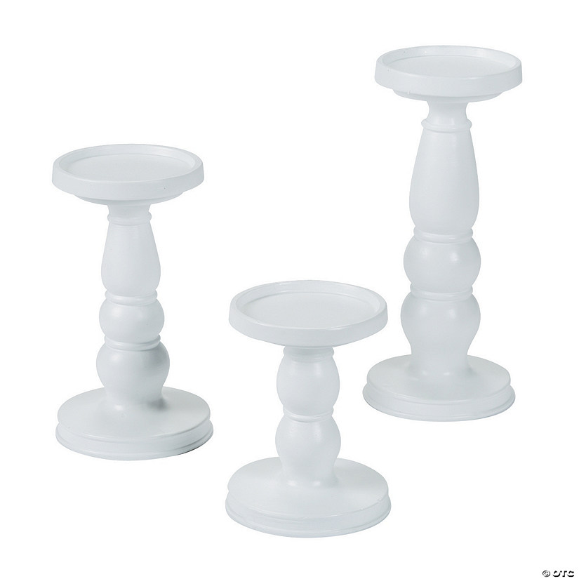 White Candle Holder Set