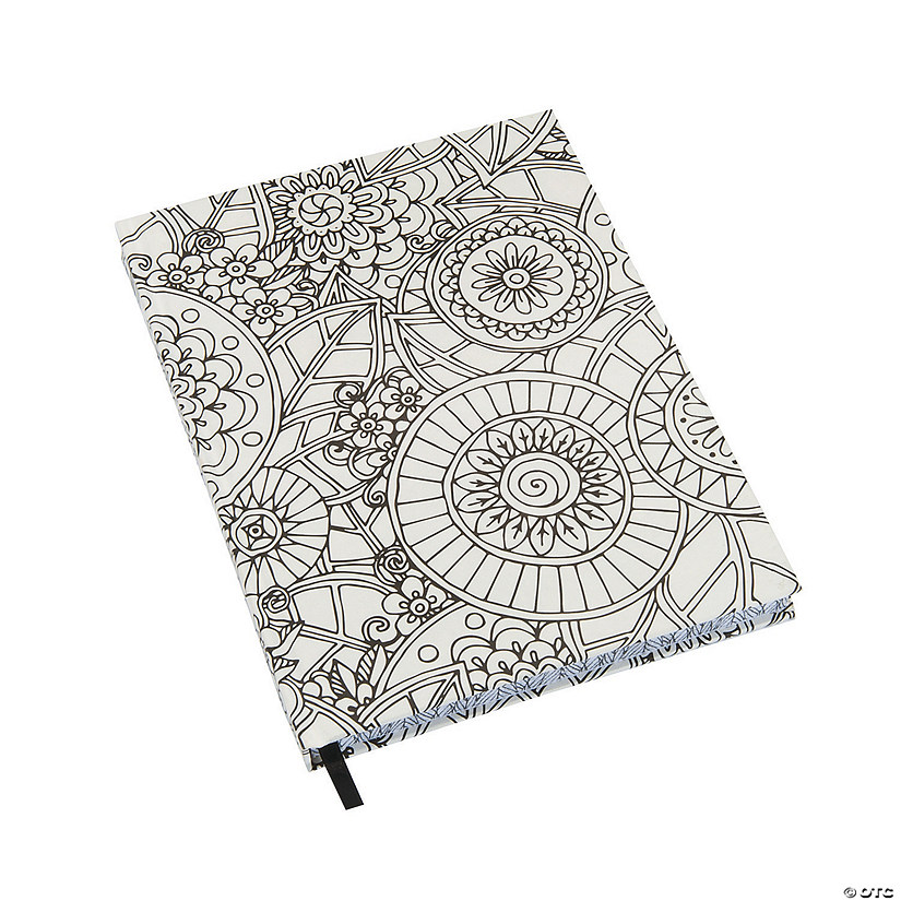 White Color Me Doodle Journal