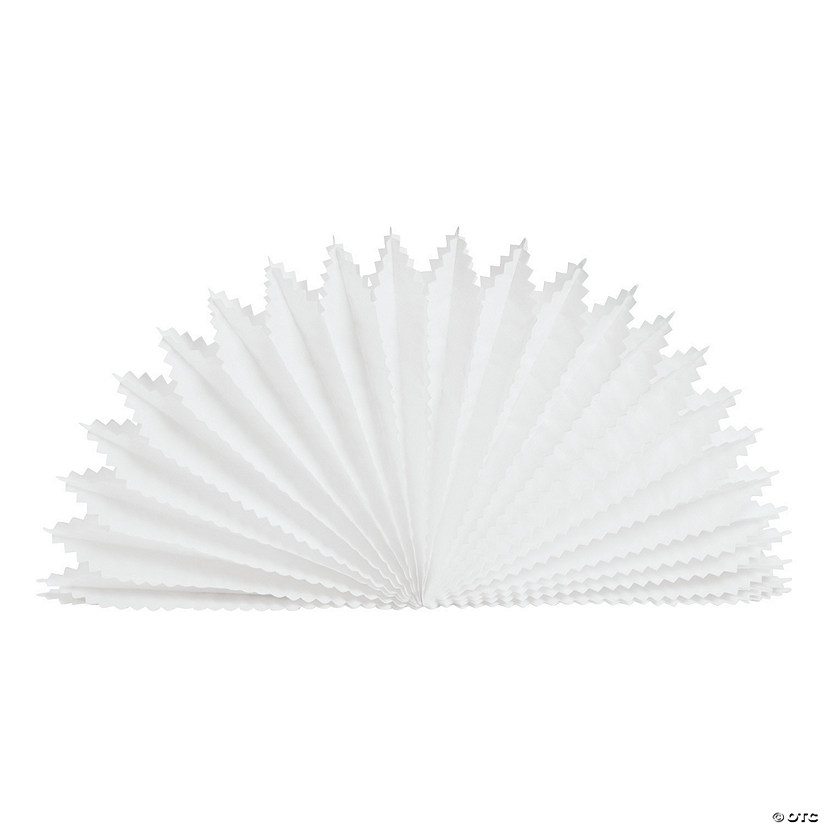 White Fan Burst Centerpieces