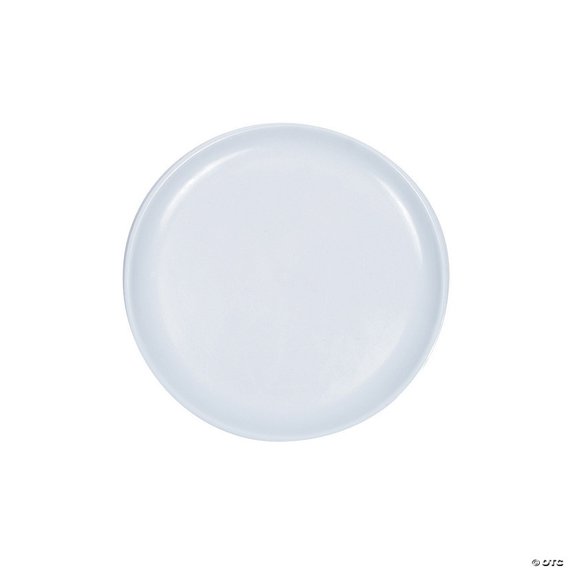 White Round Serving Trays
