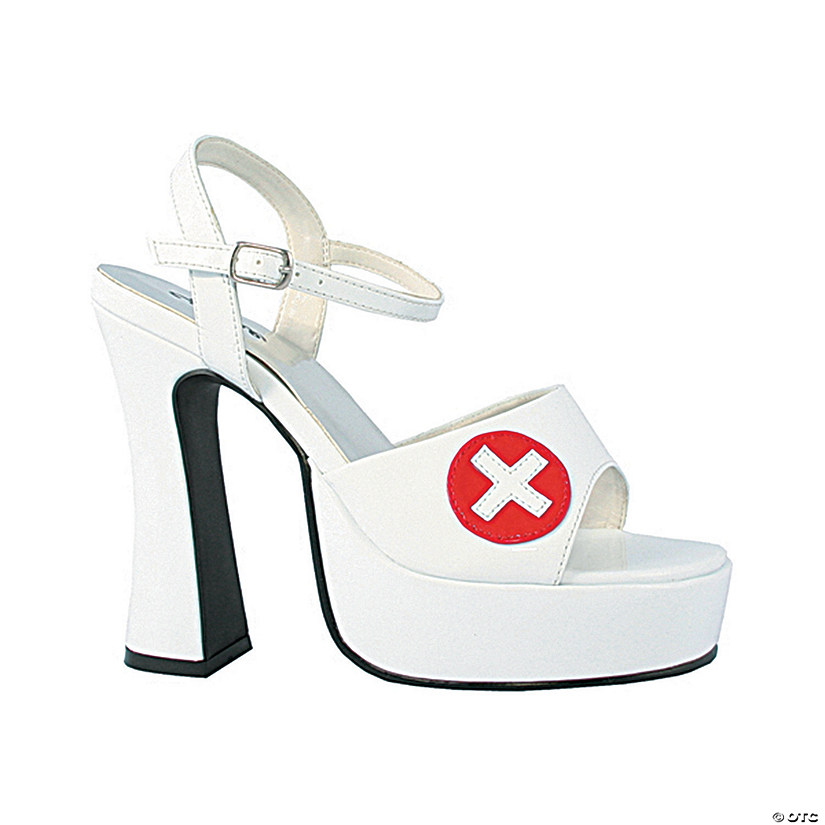 White Sexy Nurse Shoes