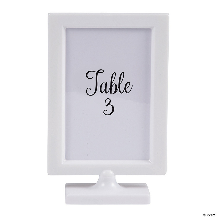 White Table Frame