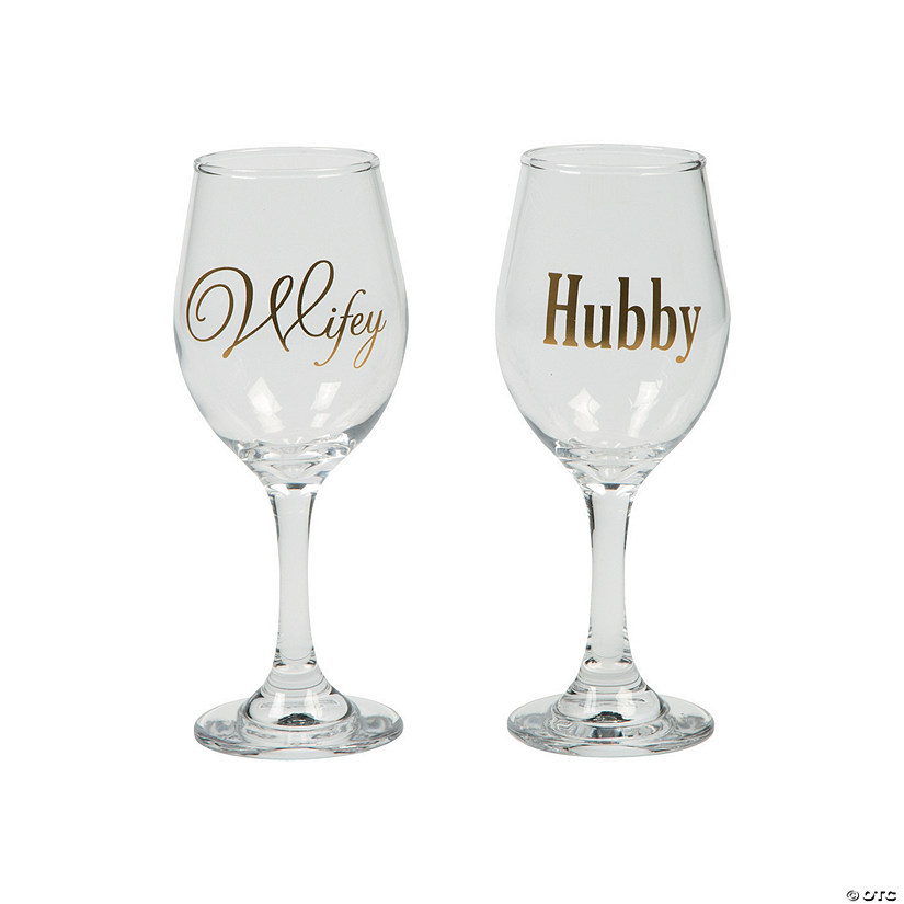Wifey & Hubby Wine Glasses
