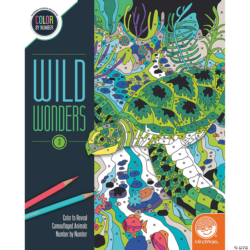 Wild Wonders Color by Number: Book 3
