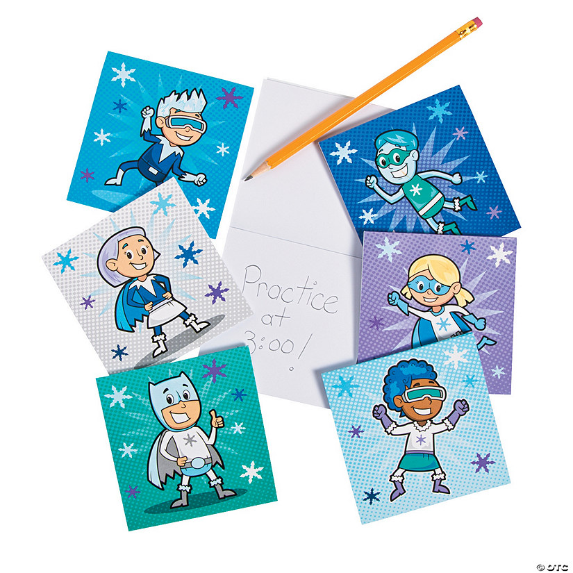 Winter Superhero Notepads