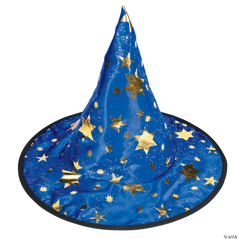 Witch Wizard Hat with Stars