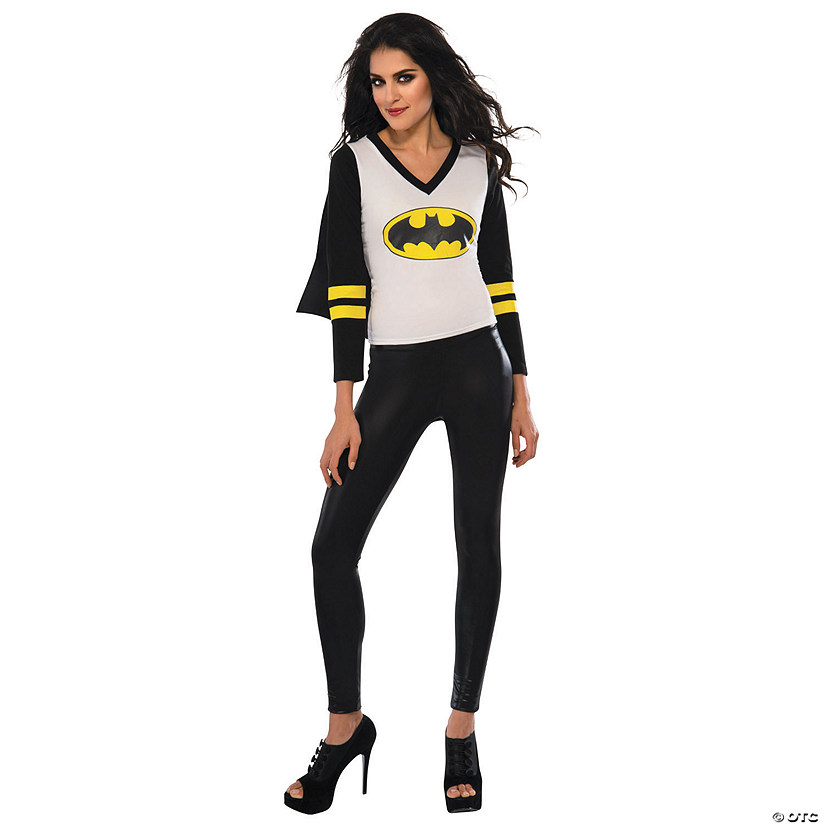 Women's Batgirl Sporty Tee with Cape Costume