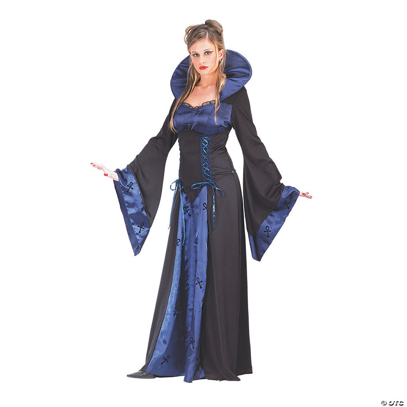 Women's Blue & Black Vampiress Costume