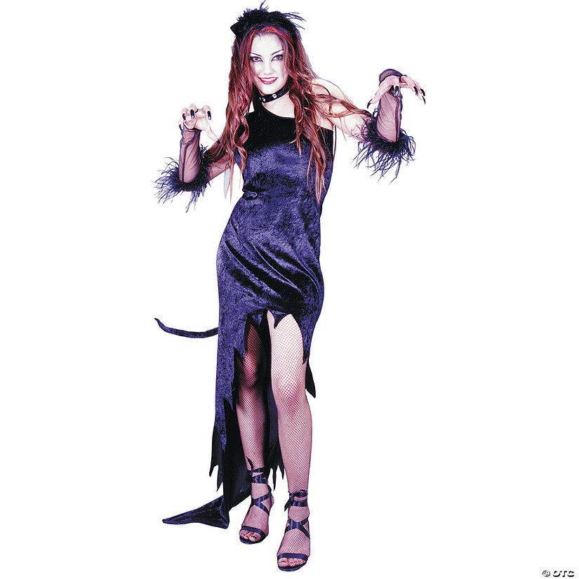 Women's Cat Magic Black Dress Costume