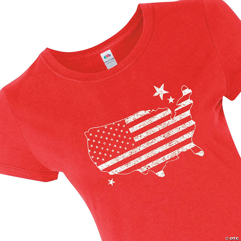 Women's Fruit of the Loom<sup>®</sup> American Flag Patriotic T-Shirt