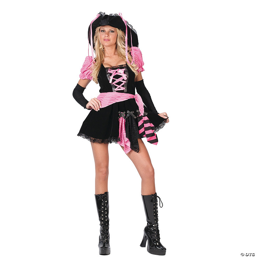 Women's Pink Pirate Punk Costume