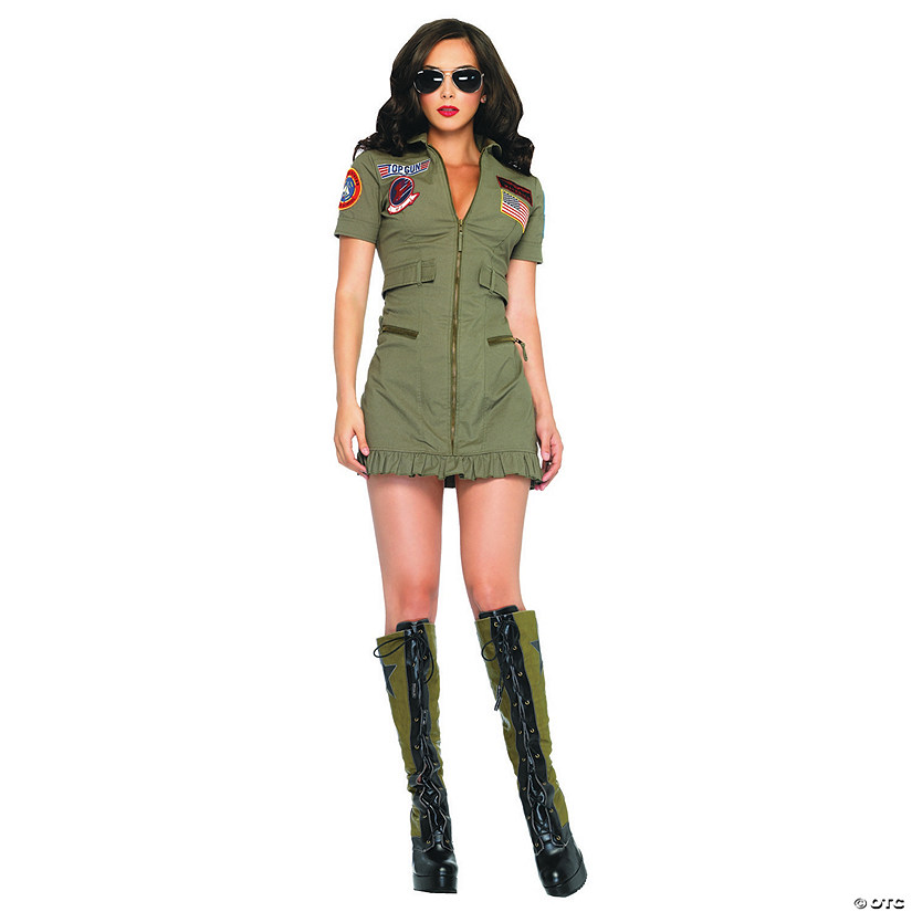Women's Top Gun™ Pilot Dress Costume