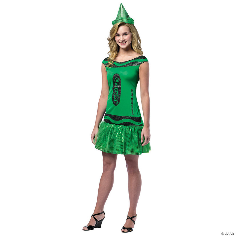 Women's Crayola® Illuminating Emerald Costume - Standard