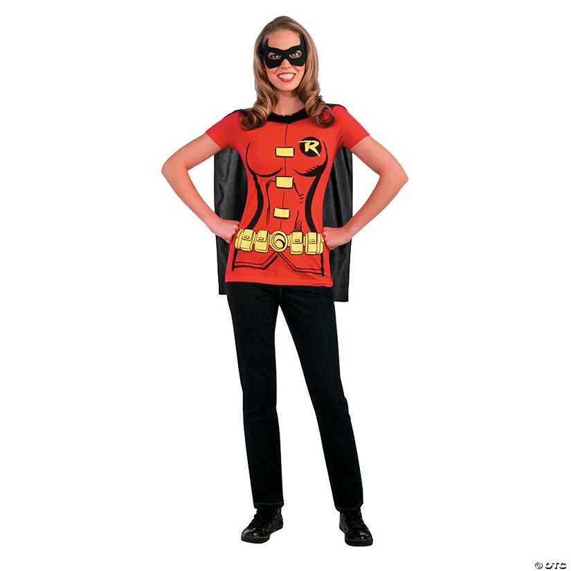 Women's Sexy Robin Shirt Costume - Medium