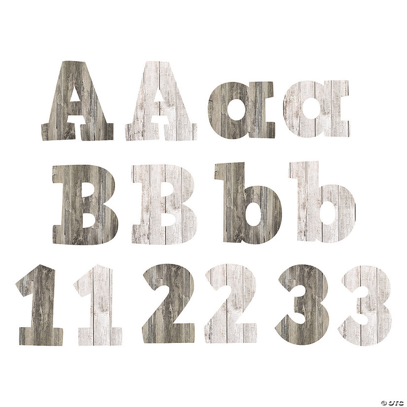 Wood Grain Bulletin Board Letters