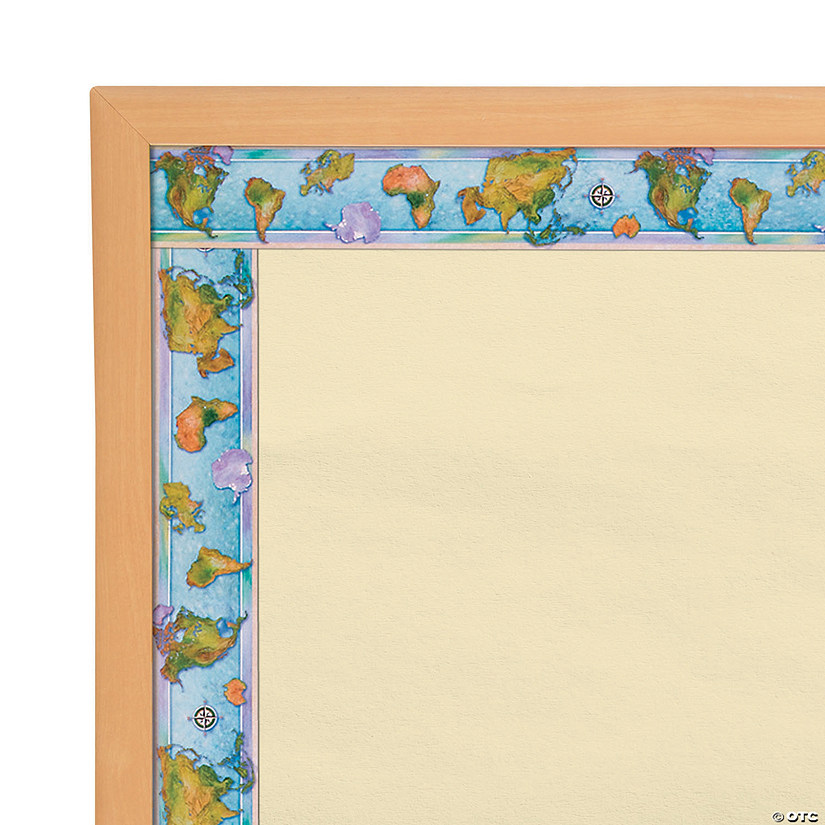World Continents Bulletin Board Borders