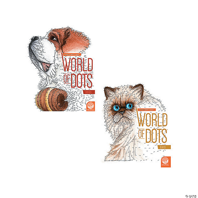 World of Dots: Dogs and Cats Set of 2