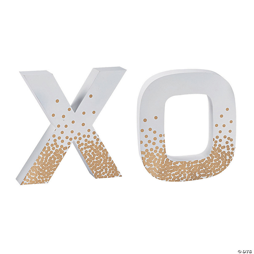 X & O Decorative Letters