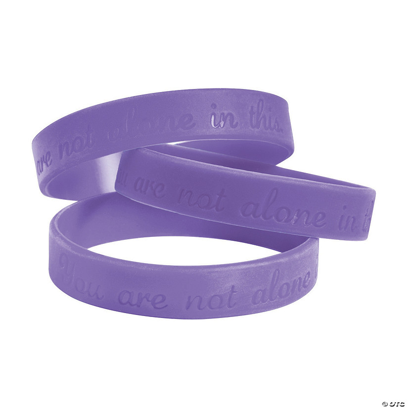 You Are Not Alone In This Purple Bracelets