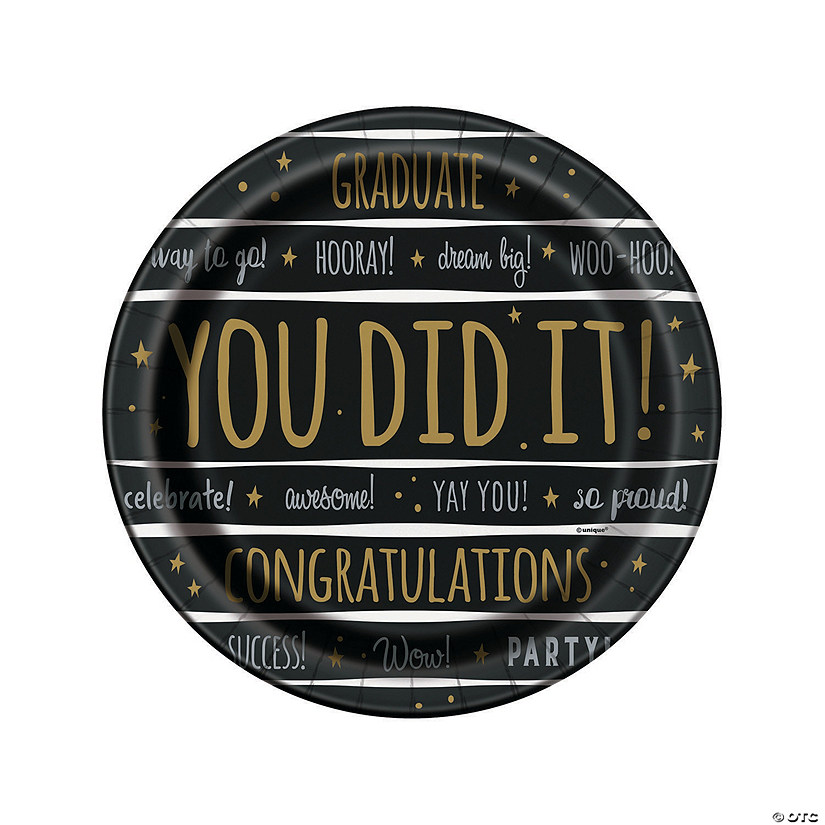 You Did It! Grad Party Dinner Paper Plates