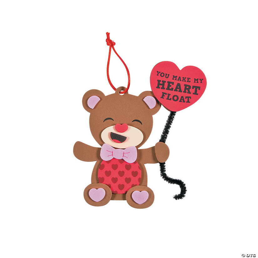 You Make My Heart Float Bear Ornament Craft Kit