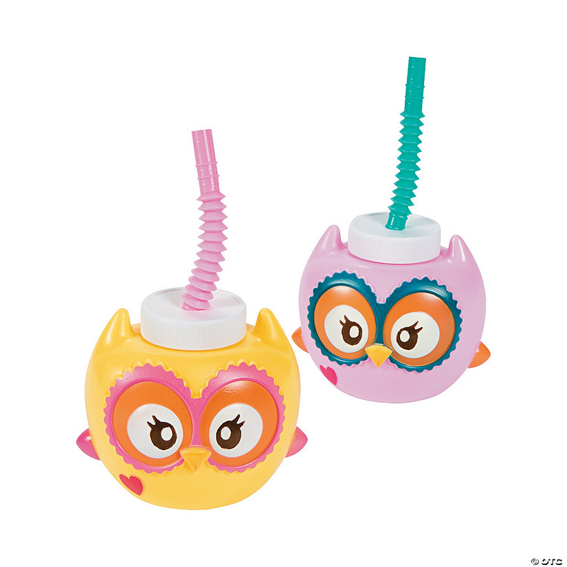 You're A Hoot Cups with Straws