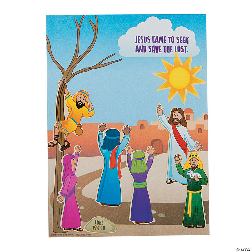 Zacchaeus Mini Sticker Scenes
