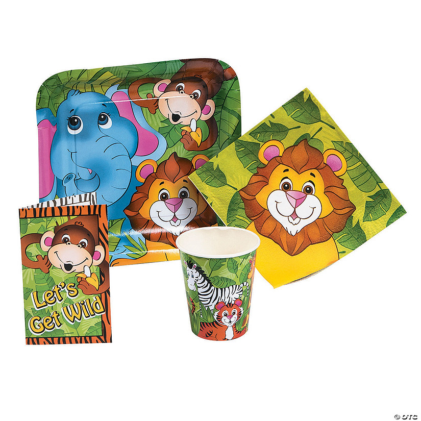 Zoo Animal Party Tableware & Invitations