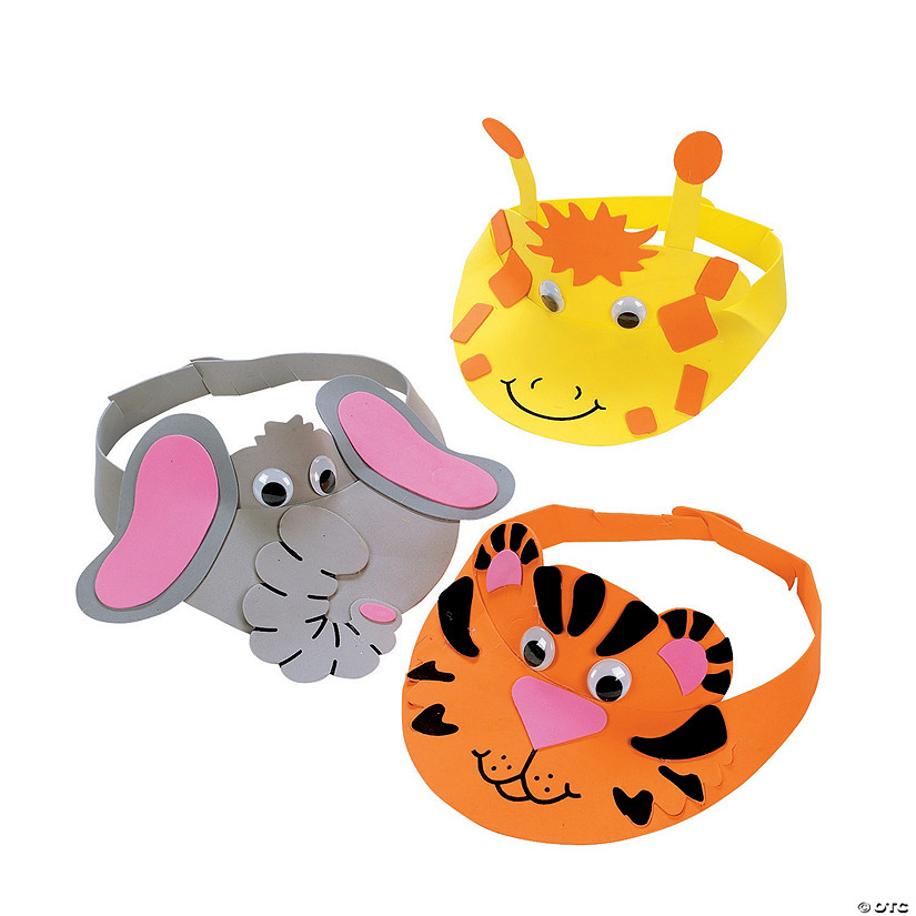 Zoo Animal Visor Craft Kit