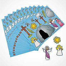Religious easter easter sunday gifts christian easter stickers stationery negle Gallery
