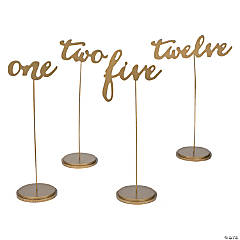 table number holders gold. 1 - 12 gold calligraphy table numbers number holders