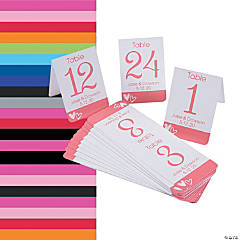 1 - 24 Personalized Hearts Table Numbers