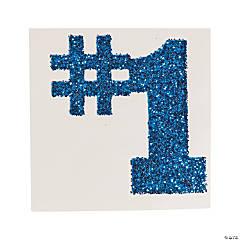 #1 Blue Glitter Tattoo Stickers