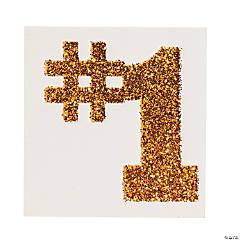 #1 Gold Glitter Tattoo Stickers